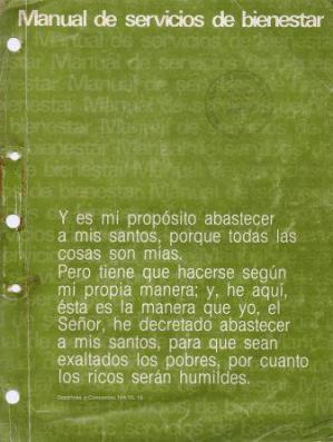 MANUAL DE SERVICIOS DE BIENESTAR